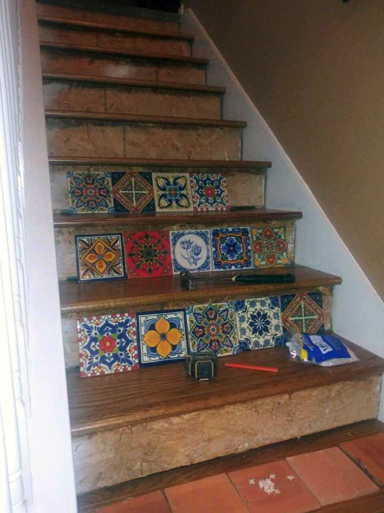 Stairway Remodel Wood and Tile